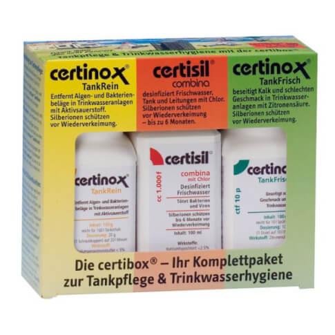 Zestaw do dezynfekcji zbiorników na wodę Certibox 100