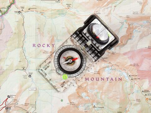 Kompas mapowy z lusterkiem Brunton TruArc™ 15
