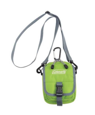 Saszetka torba na szyję Coleman – ZOOM GREEN