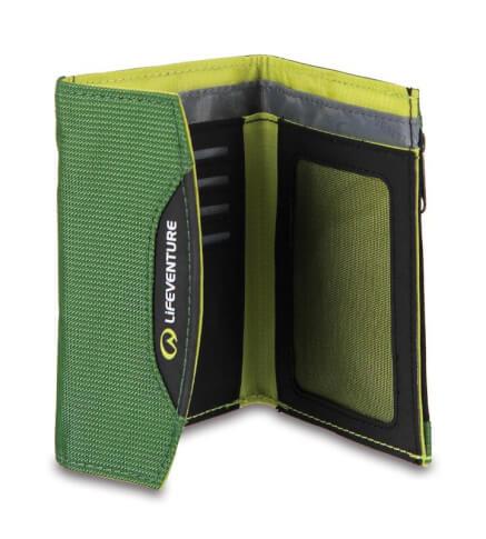 Portfel podróżny Lifeventure Currency wallet RFID zielony