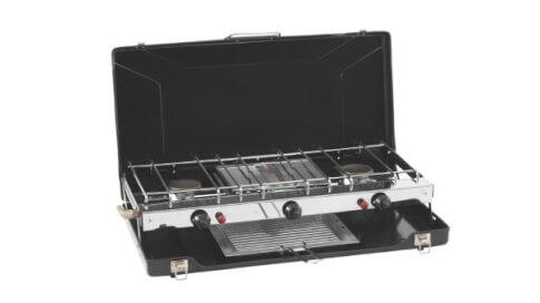 Turystyczna kuchenka gazowa z grillem Appetizer Cooker 3-Burner Stove w Grill Outwell