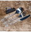 Sztućce turystyczne ze stali nierdzewnej Basic Cutlery Set Lifeventure