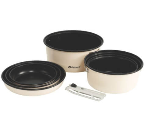 Zestaw garnków Outwell Cuisine Cook Set L beżowy
