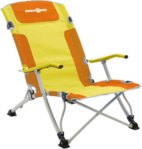 Krzesło plażowe Brunner Bula XL żółte