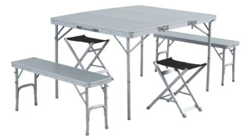 Stół kempingowy z ławkami i krzesełkami Easy Camp Dijon