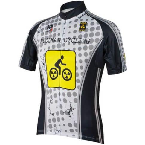 Koszulka rowerowa z krótkim rękawem Nuclear Cycling biała