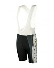 Spodenki rowerowe z szelkami i wkładką HT-90 Nuclear Cycling White BCM Nowatex