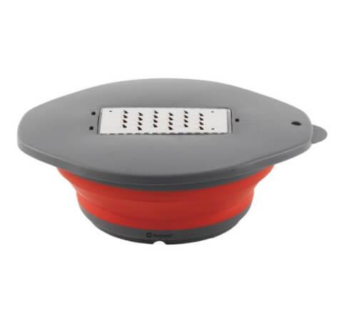 Miska składana z pokrywką i tarką Outwell Collaps Bowl Red