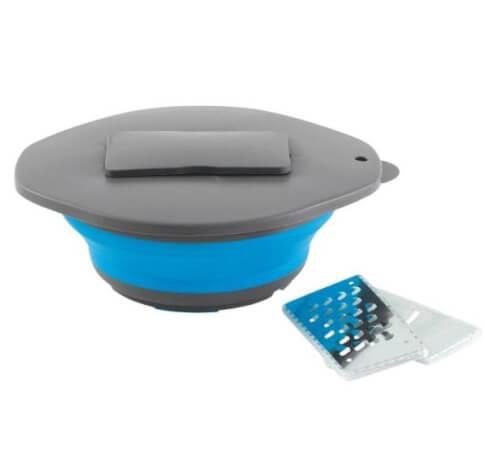 Miska składana z pokrywką i tarką Outwell Collaps Bowl Blue