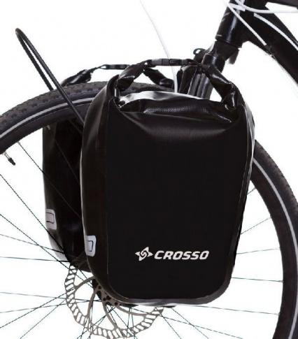 Sakwy rowerowe wodoszczelne Crosso Dry Small 30 l Click System przednie lub tylne