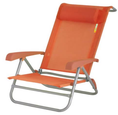 Krzesło plażowe EuroTrail Beach Chair Acapulco pomarańczowe