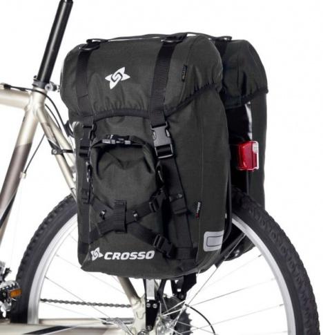 Sakwy rowerowe Crosso Expert Small 40 l na przód lub tył