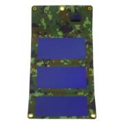 Zwijana ładowarka solarna USB 3W PowerNeed kolor kamuflaż