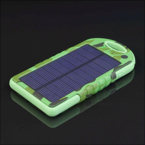 Solarny power bank 5000 mAh Sunen kolor kamuflaż