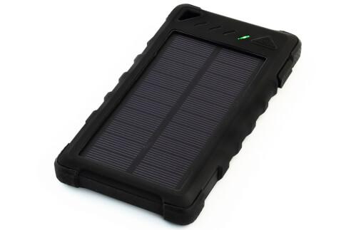 Power bank z panelem solarnym 1W 8000 mAh Sunen czarny
