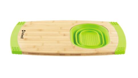 Turystyczna deska do krojenia z pojemnikiem Outwell Collaps Bamboo Board Green