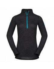 Ciepła koszulka termoaktywna Zajo Nora Merino W Zip Top LS black