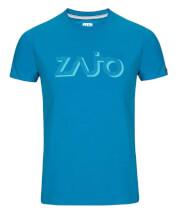 Koszulka męska Zajo Bormio T-shirt blue jewel logo