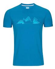 Koszulka męska Zajo - Bormio T-shirt blue jewel nature