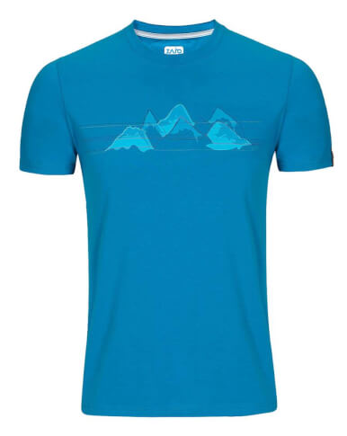 Koszulka męska Zajo Bormio T-shirt blue jewel nature