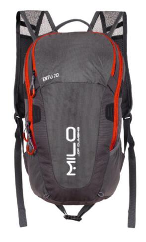 Mały plecak miejski ENTU 20l grey burgundy Milo