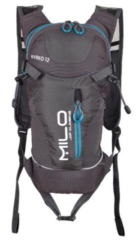 Plecak rowerowy 12l Milo KYRKO szaro niebieski