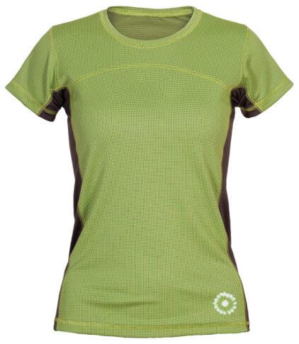 Damska koszulka w góry BAMBOO-LADY green Milo