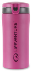 Szczelny kubek termiczny z nakrętką Flip-Top Thermal Mug pink Lifeventure