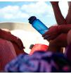 Butelka turystyczna Tritan Bottle 650ml Lifeventure niebieska