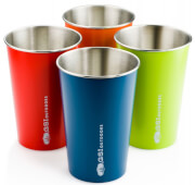 Zestaw kolorowych kubków turystycznych ze stali nierdzewnej GLACIER STAINLESS PINT SET – MULTICOLOR GSI outdoors