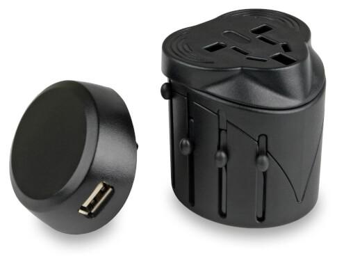 Przejściówka adapter do gniazdek elektrycznych z USB Travel Adaptor
