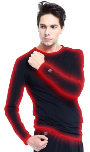 Bluza ogrzewana elektrycznie Glovii czarna