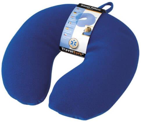 Poduszka turystyczna pod kark Travel Safe Travel Pillow Comfort niebieska