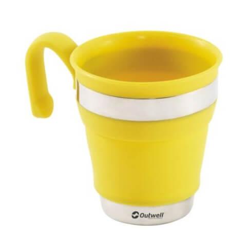 Silikonowy kubek składany Outwell Collaps Mug Yellow