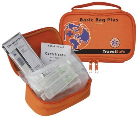 Apteczka turystyczna zestaw do zastrzyków Basic Bag Plus Travel Safe 32 elementy
