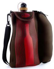 Bukłak z kieliszkami na wino WINE GLASS GIFT SET- TERROIR GSI 750ml czerwono-czarny