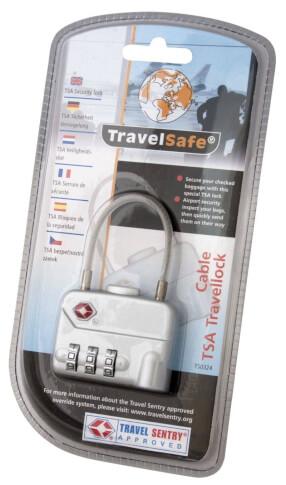 Kłódka z linką na bagaż Travel Safe Travellock Cable TSA