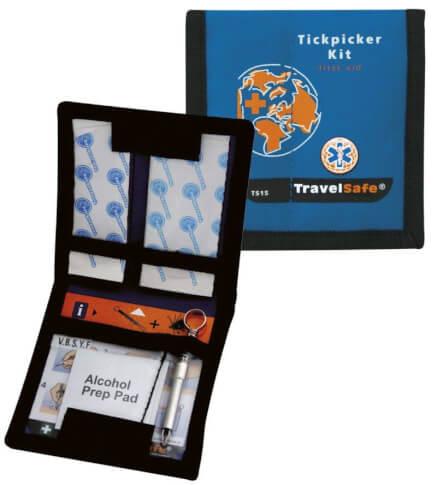 Zestaw turystyczny do usuwania kleszczy Tickpicker Kit Travel Safe 14 elementów