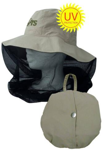 Kapelusz z moskitierą z filtrem UV Mosquito Hat Travel Safe