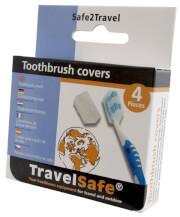 Osłonki na szczoteczkę do zębów zestaw 4 szt Toothbrush Covers Travel Safe