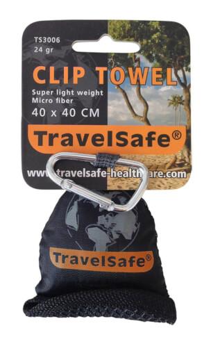 Ręcznik szybkoschnący Travel Safe Microfiber Mini Towel (40x40) pomarańczowy