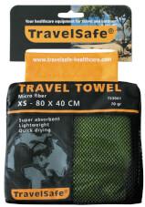 Ręcznik szybkoschnący Travel Safe Microfiber Towel XS zielony