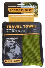 Ręcznik szybkoschnący Travel Safe Microfiber Towel S zielony