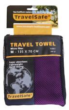Ręcznik szybkoschnący Travel Safe Microfiber Towel M fioletowy