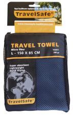 Ręcznik szybkoschnący Travel Safe Microfiber Towel L niebieski