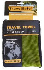 Ręcznik szybkoschnący Travel Safe Microfiber Towel L zielony