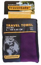Ręcznik szybkoschnący Travel Safe Microfiber Towel L fioletowy