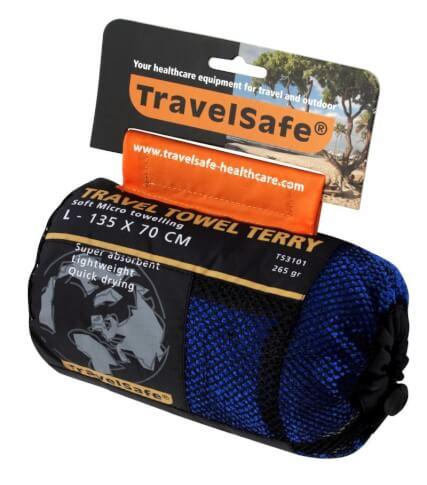 Ręcznik szybkoschnący Travel Safe Microfiber Terry Towel L niebieski
