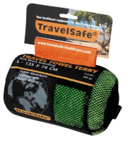 Ręcznik szybkoschnący Travel Safe Microfiber Terry Towel L zielony