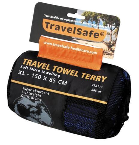 Ręcznik szybkoschnący Travel Safe Microfiber Terry Towel XL niebieski